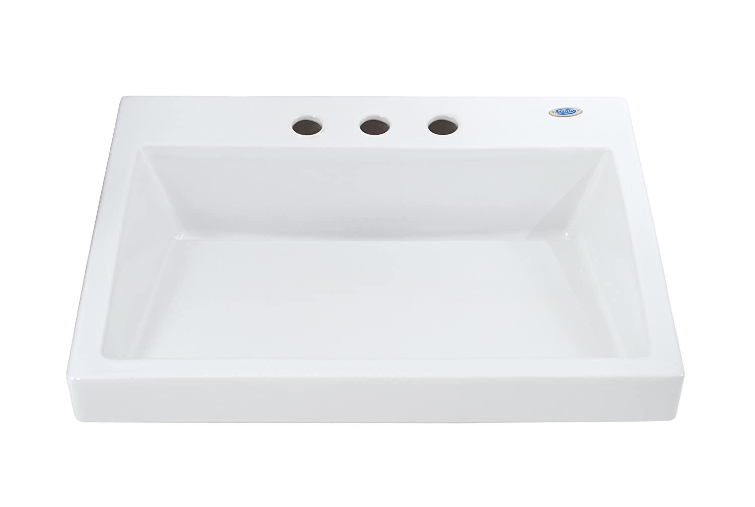 TOTO Lt171.8G#01 Kiwami Renesse Design II Vessel Lavatory With 8 Inch Centers, Cotton White well-wreapped
