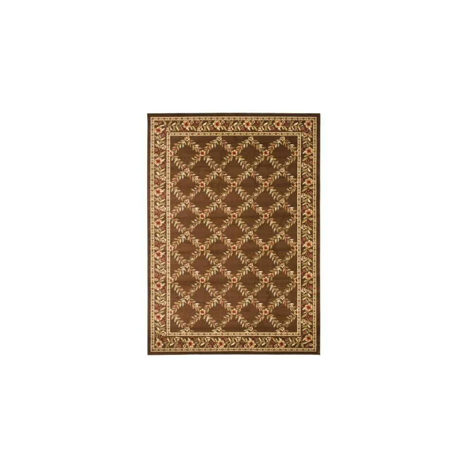 Safavieh Lyndhurst Collection LNH557 2525 Traditional Floral Trellis Brown Area Rug (8 x 11)