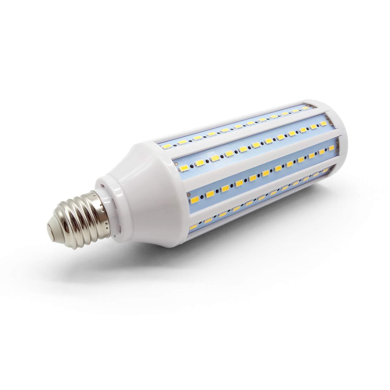 HQT Bombilla LED E27, 30W Bombilla de maíz blanco cálido 360 °, AC185-245V 120 LED 5730 SMD: Amazon.es: Iluminación