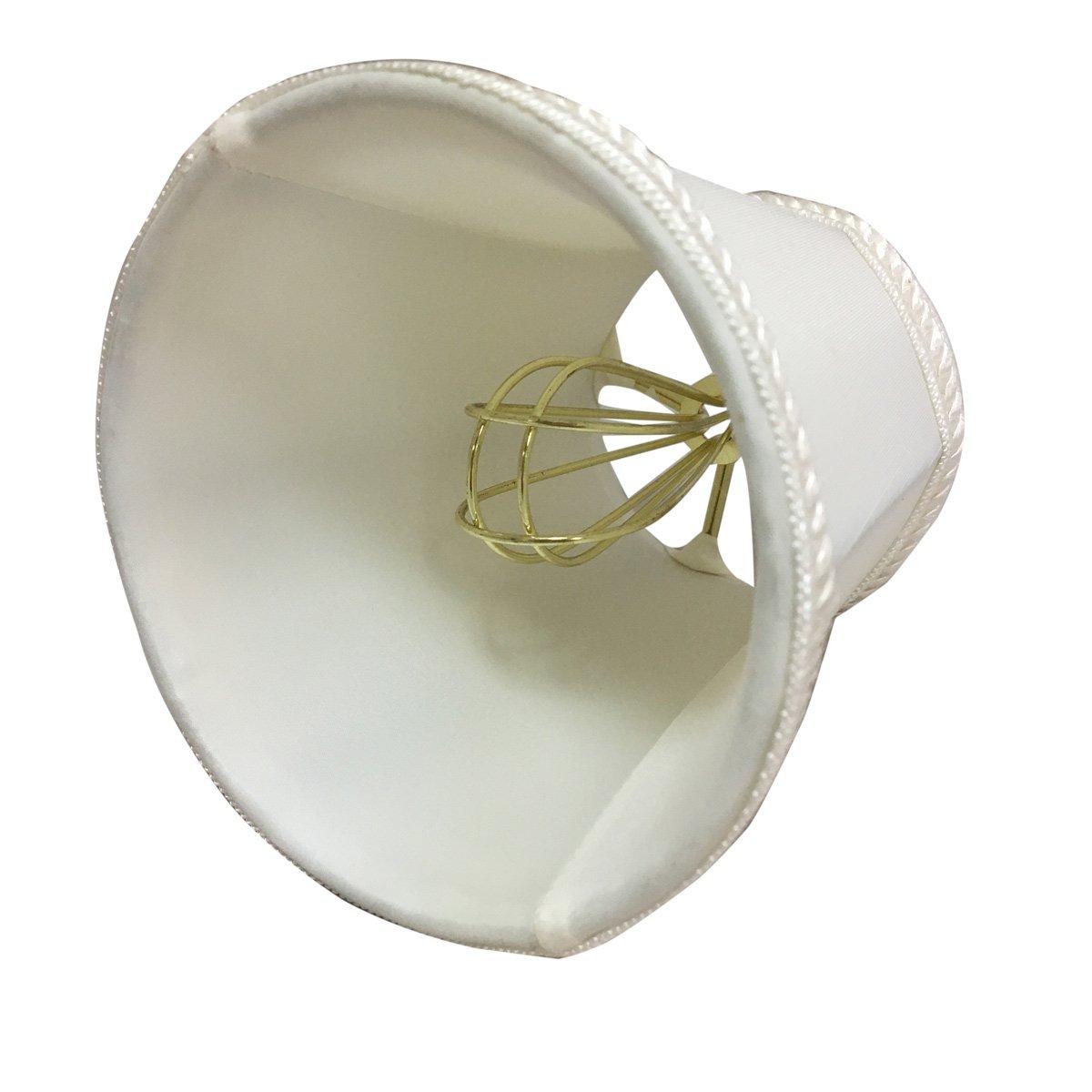 Royal Designs CS-113WH-6 Decorative Trim Deep Empire Chandelier Lamp Shade White Inc