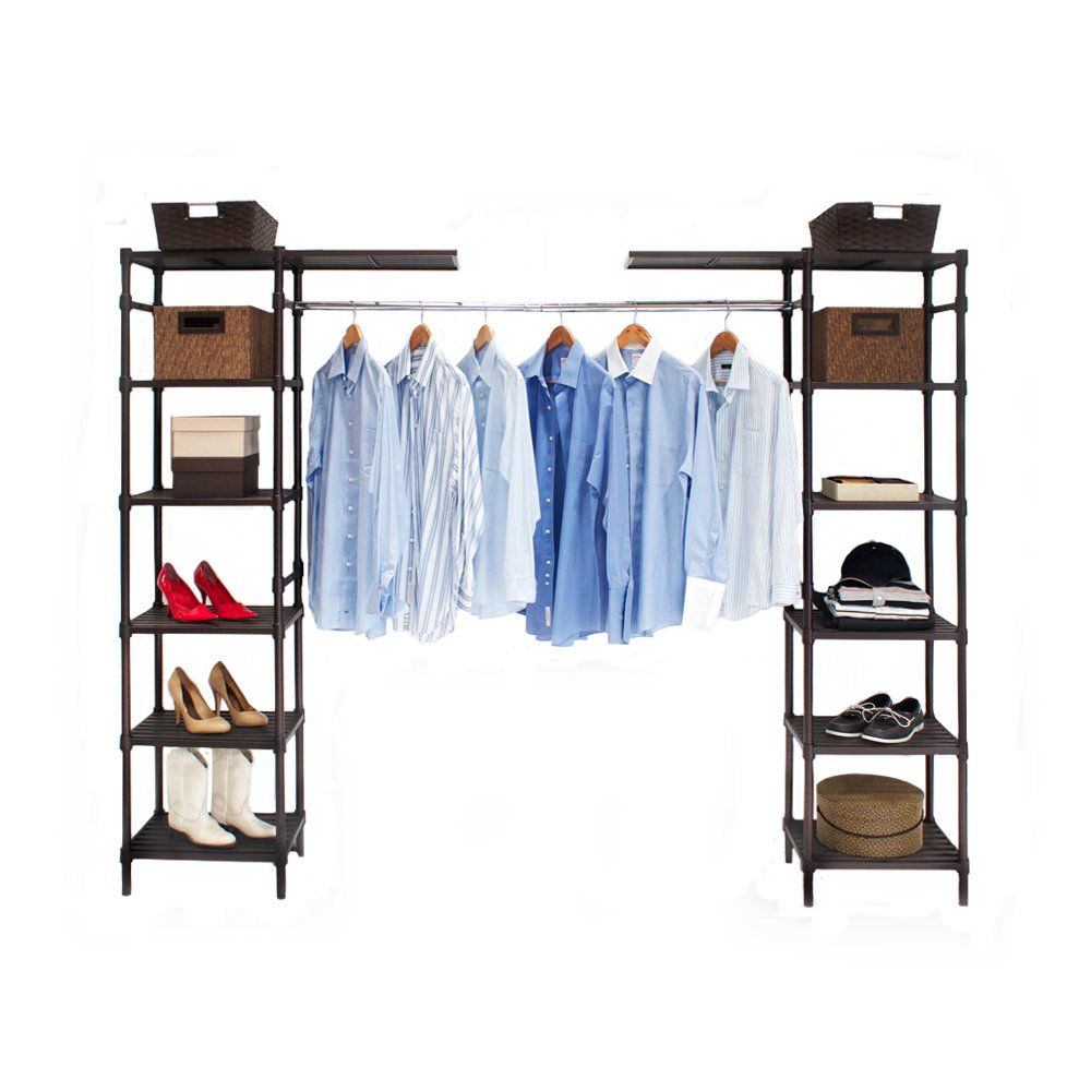 Amazon.com: Seville Classics Expandable Closet Organizer System, Resin  Slat: Home U0026 Kitchen