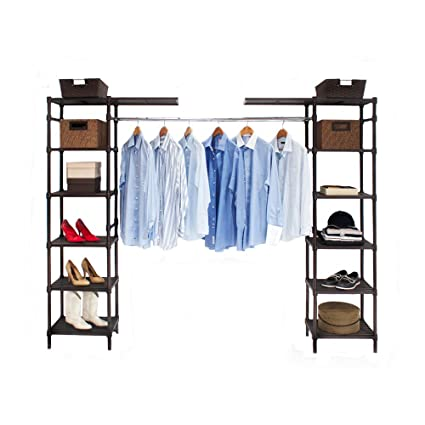 Com Seville Classics Expandable Closet Organizer System Resin Slat Home Kitchen