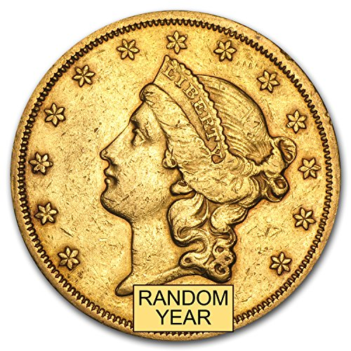 (1866-1876 $20 Liberty Gold Double Eagle Type 2 XF (Random Year) G$20 Extremely)