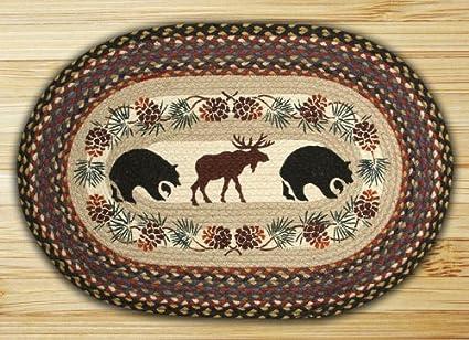 Amazon Com Earth Rugs 65 043bm Op Bear Moose Design Braided Rug 20