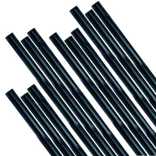 Lampwork Boro Glass - Devardi Glass Boro Rods, 1 lb, COE 33, Opaque Black Borosilicate Solid Rods