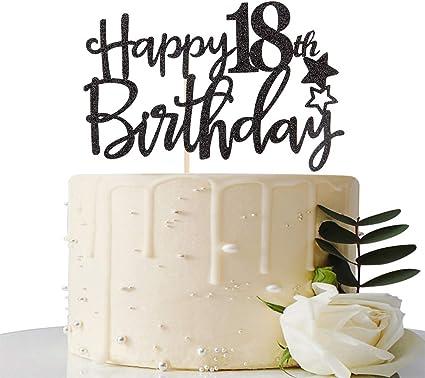 Amazon.com: Decoración para tarta con purpurina negra para ...