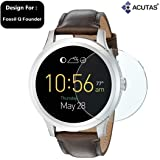 ACUTAS Round Edge Tempered Glass for Fossil Q Founder