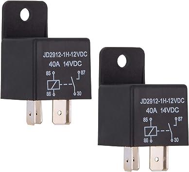 JD2912-1H-12VDC 40A 14VDC,... Ehdis® Car Relay 4 Pin 12v 40amp Spst Model No.