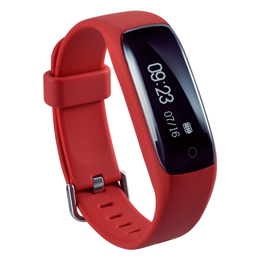 Purifit ds-b522 Fitness Activity Tracker Smartband withスマートフォン通知、Bluetooth v4 . 2スマートバンドリストバンドfor iOS and Android B072V3S4PH レッド