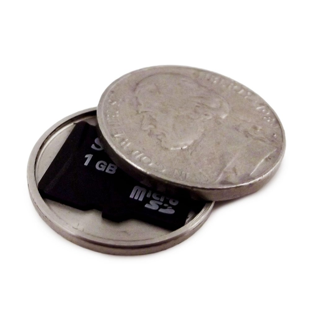 Micro SD Card Covert Coin - Secret Compartment Spy Gadget (US Nickel)