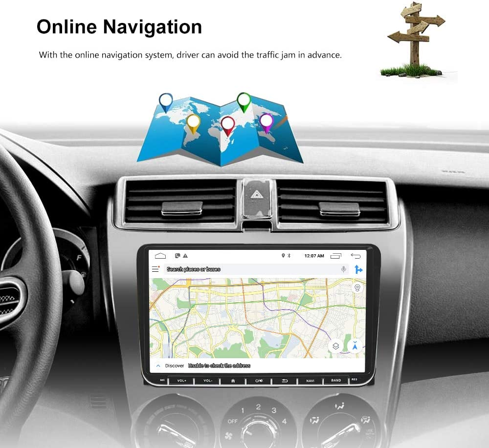 LEXXSON Android Car Stereo for Passat Golf MK5 MK6 Jetta EOS POLO Touran Seat Sharan inch Touch Screen Car Radio GPS Navigation Bluetooth MirrorLink USB Player with CanBus