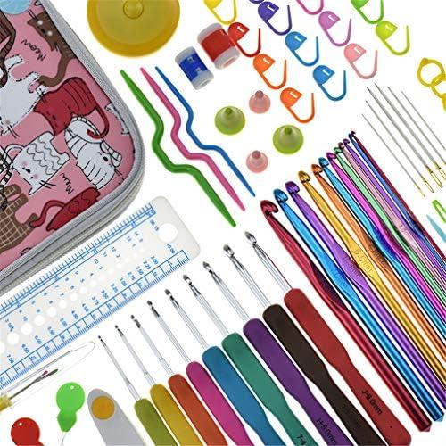 KLUMA かぎ針 編み針 キット 携帯便利 ケース付き 色分け 手芸 編み物 DIY 愛好家 工具 ツール 初心者 プレゼント