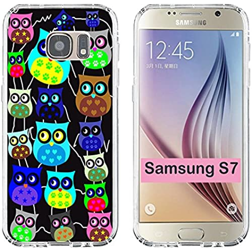 S7 Case Owl,Samsung Galaxy S7 TPU Soft Clear Full Protective Case - Design of Funny Lovely Owls for Girl 2016 Sales