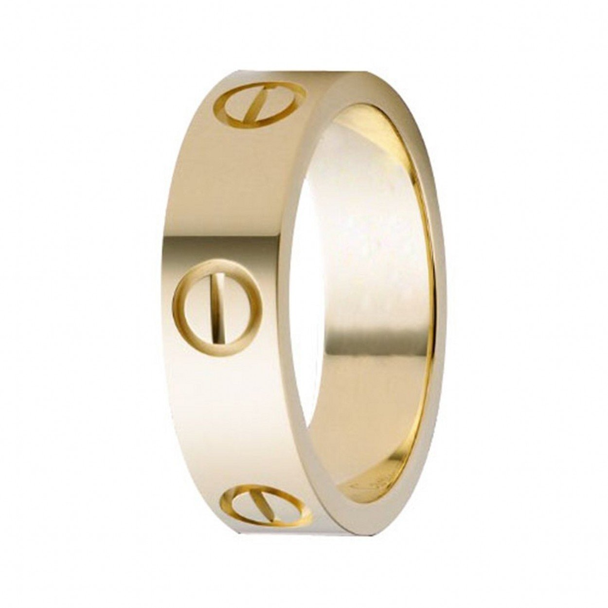 0e57321bf1dca XUELE Love Ring-Gold Lifetime Just Love You 6MM in Width Sizes 8