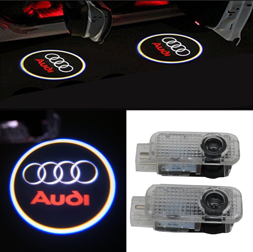 Yooyee Car Door LED Lighting Logo Projector, 2 Pcs Easy-Install Bright Ghost Shadow Courtesy Guest Lamp Kit