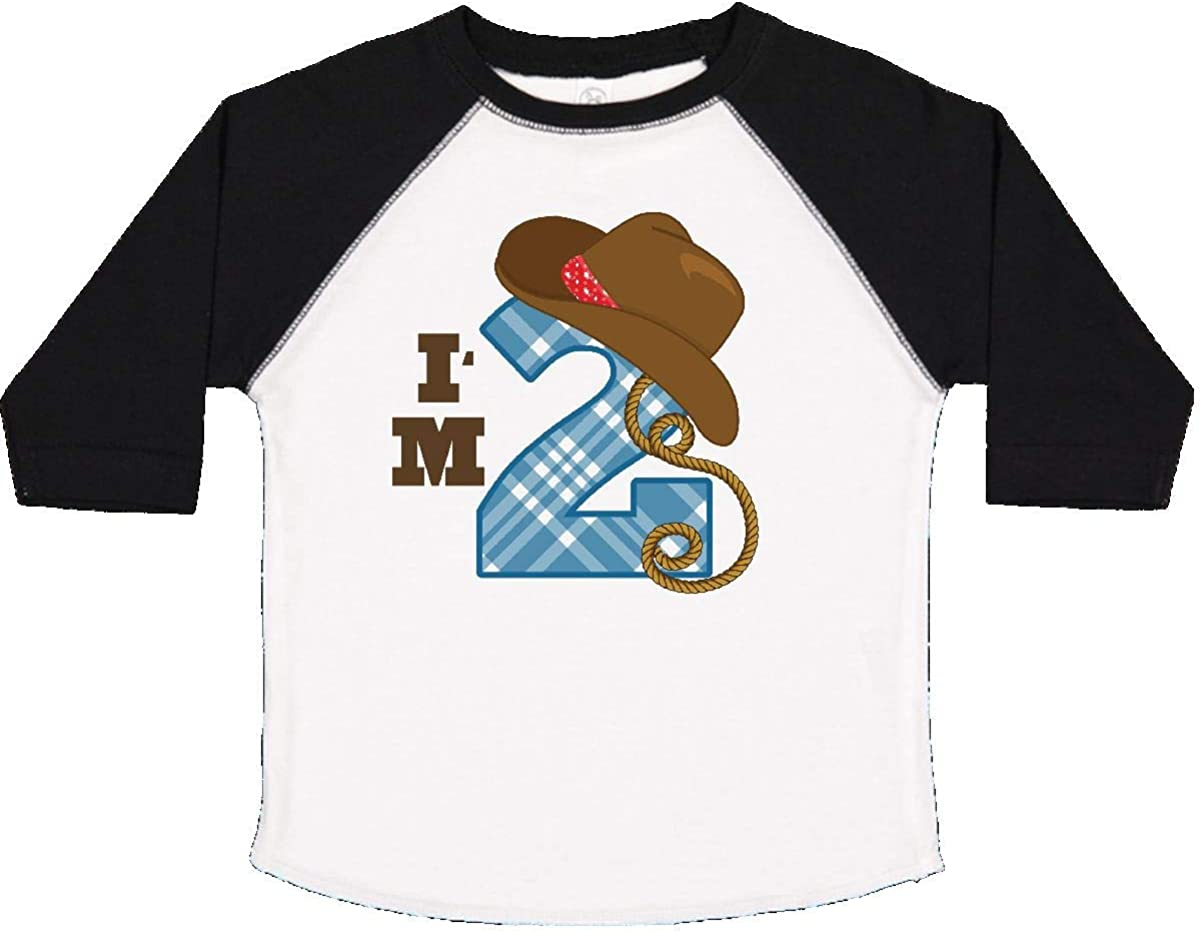 Inktastic 2nd Birthday Cowboy I/'m 2 Two Year Old Toddler T-Shirt Second Number