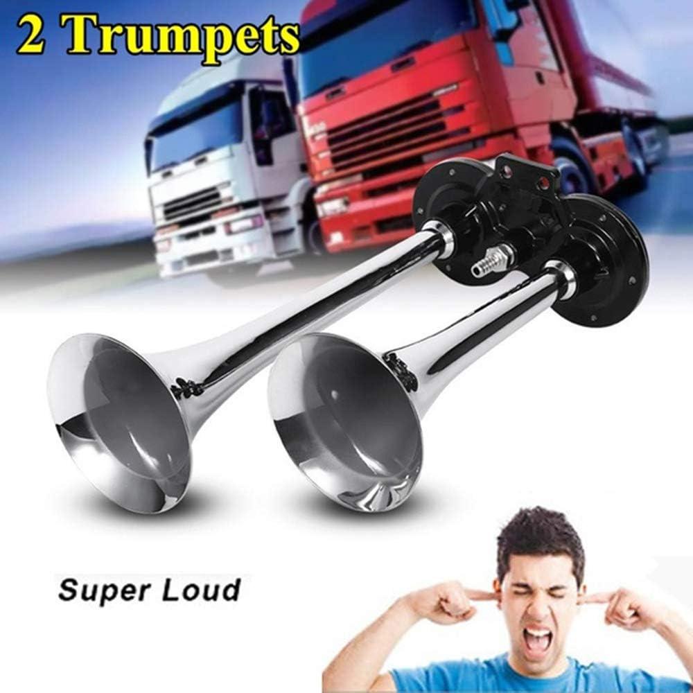 mit Kompressor Kit-2//5 Trompeten optional-super laut 278 dB-passt f/ür Fast jedes Fahrzeug Moore883Maur 12//24 V Duke Musical Dixie Air Horn