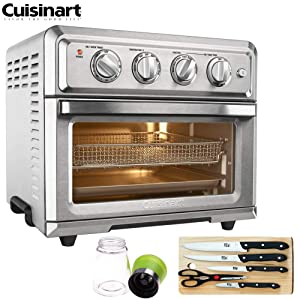 Cuisinart TOA-60 Convection Toaster Oven Air Fryer with Light, Silver (Certified Refurbished) with Extreme Kitchen Bundle
