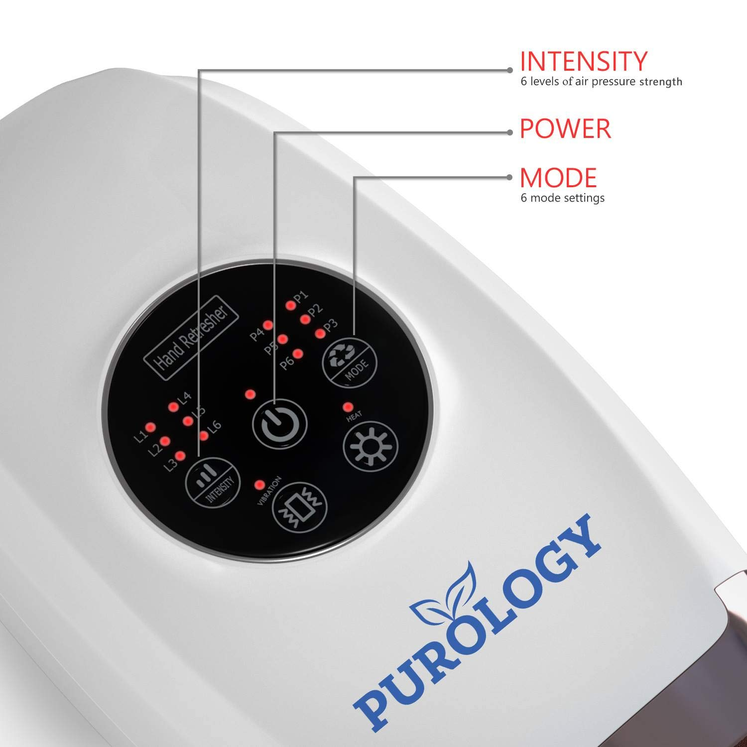 Hand Massager Pressure Point Acupressure Compression Therapy Reflexology With Heat For Arthritis Carpal Tunnel Syndrome Tendonitis Trigger Finger Pain Cordless by Purology   (Image #3)