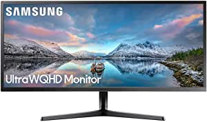 Samsung LS34J550WQEXXS Ultra WQHD Gaming Monitor, Dark Blue Gray, 34