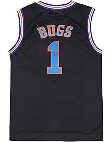 459f4ee0af3a9 Mens Basketball Jersey Bugs Bunny  1 Space Jam Jersey White Black