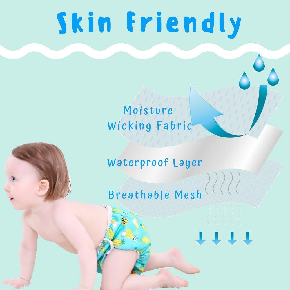 Size-M Einstellbare Schwimmhose Baby InnoBeta Schwimmwindel wiederverwendbare f/ür Neugeborene 12-36 Monate baby badehose wasserdichte ANANAS Blau