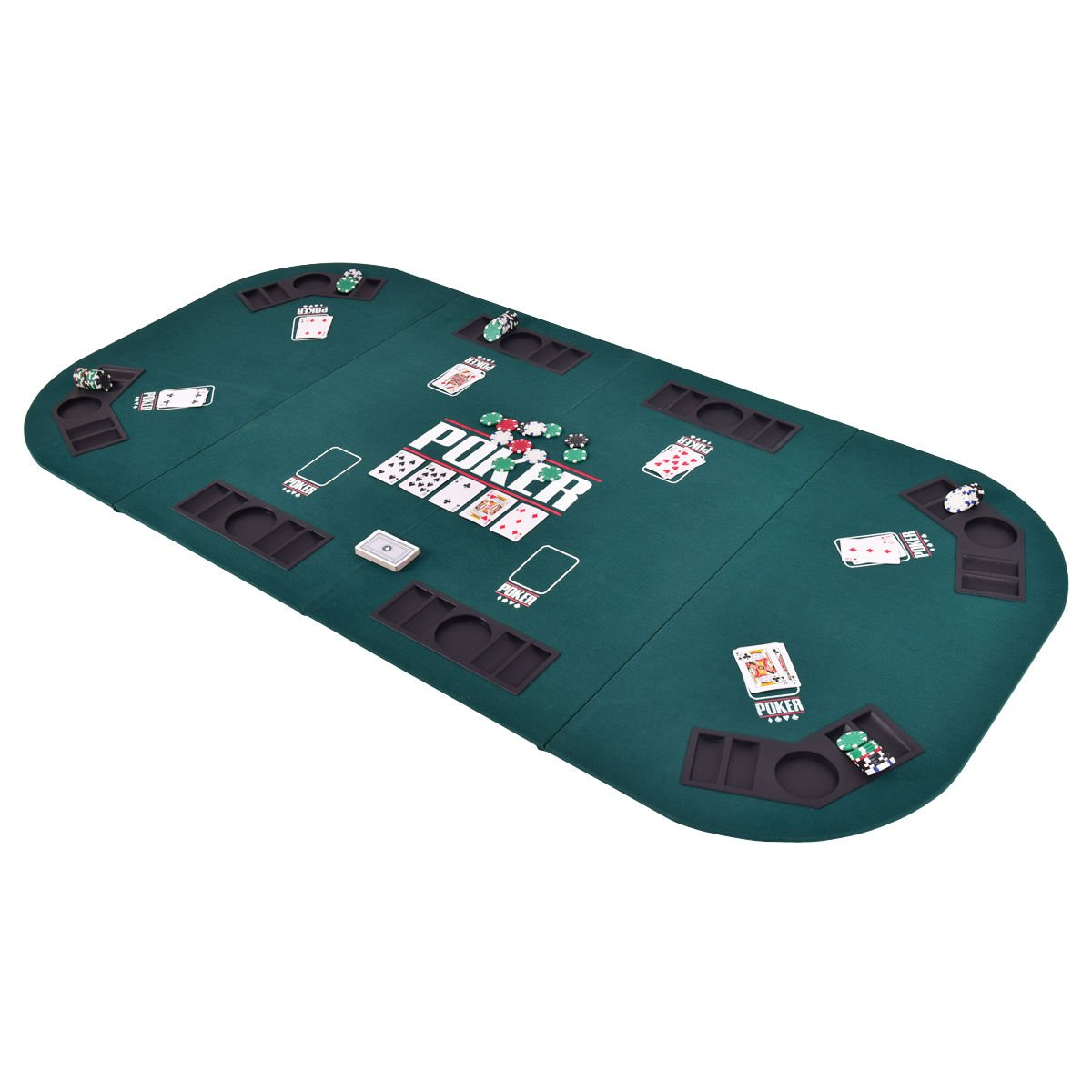Etonnant Amazon.com : Gaintex Folding Poker Table Top Four Fold 8 Player Poker Table  Top U0026 Carrying Case Portable, Green : Sports U0026 Outdoors