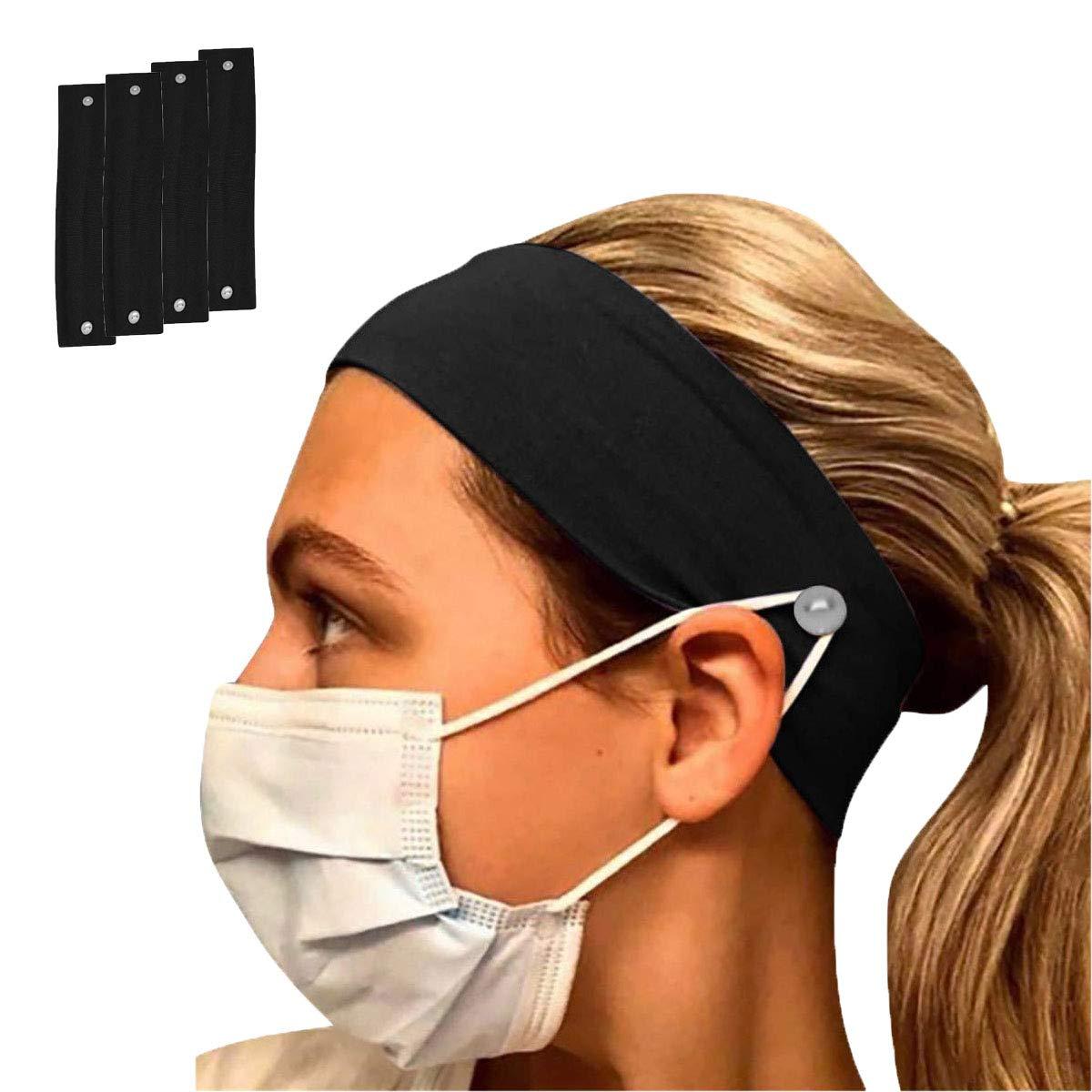 Krankenschwestern /Ärzte M/änner Ohrenschutz 4 St/ück Cloud Heart Stirnband//Maskenhalter f/ür Frauen
