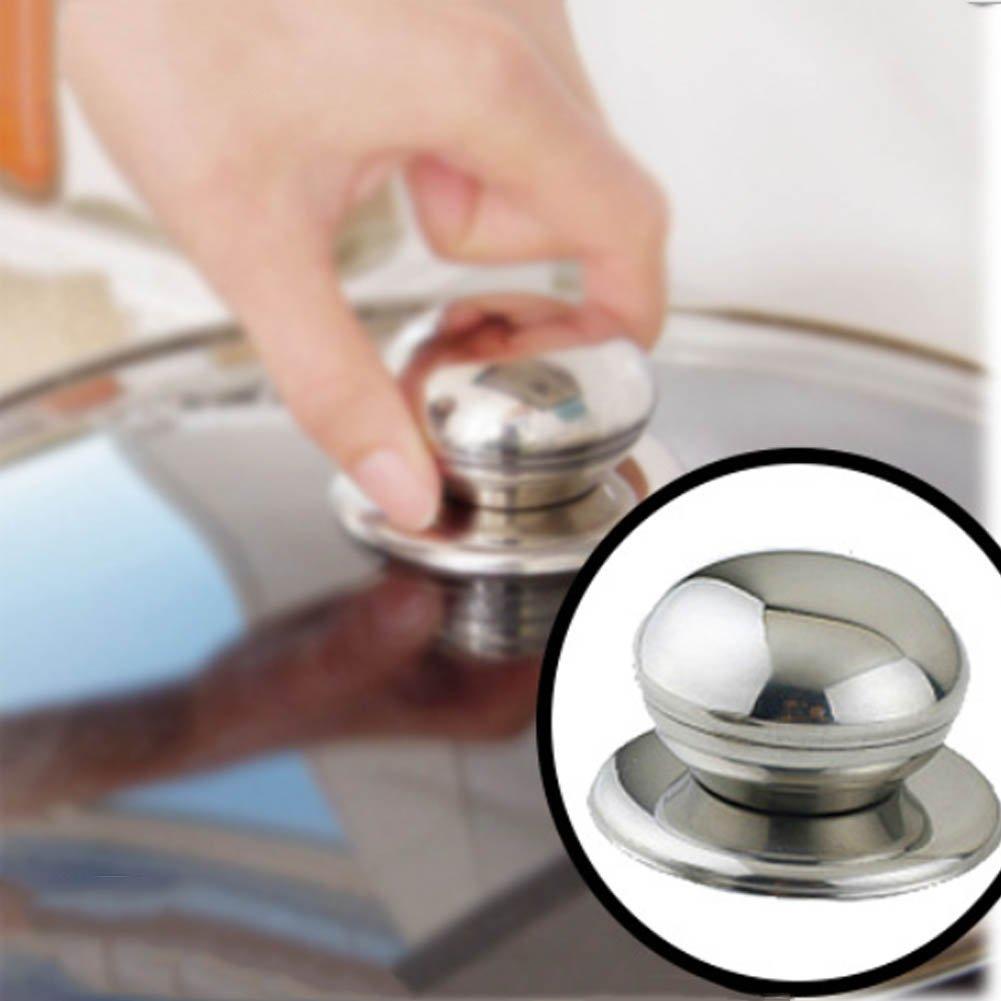 ステンレススチールポットカバーハンドル交換可能な調理器具ポットケトルSaucepan Lidノブカバーハンドル   B07DW65NDN