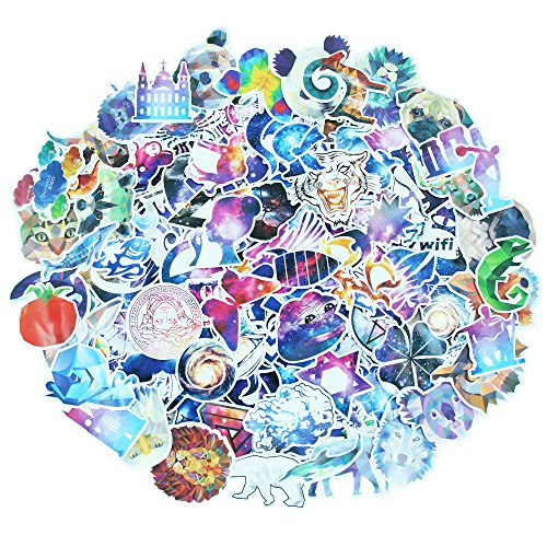 140 Pcs Stickers Pack Variety - Galaxy & Mosaic Animal Style Vinyl Decals DIY - for Laptop Skateboard Car Luggage Motorcycle Bicycle Graffiti Computer (Galaxy Mosaic)