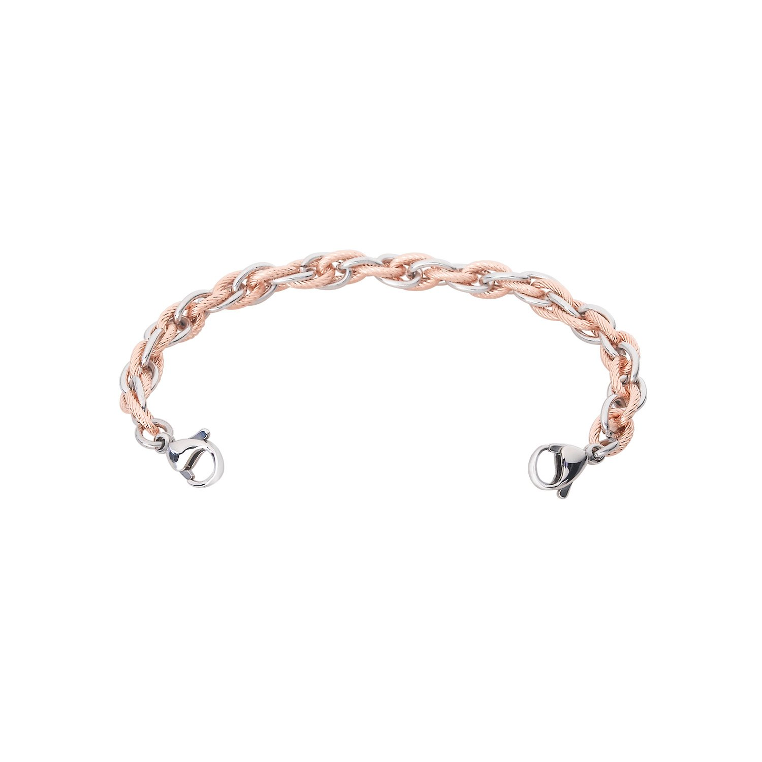 Divoti Inter-Mesh Rose Gold & Silver Medical Alert Replacement Bracelet for Women - 6.0''
