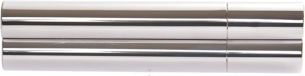 18cm x 4,5cm x 2,5cm Quantum Abacus Doppio Tubo Porta sigari in Acciaio Inossidabile 5021 Argento