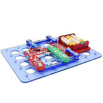 ff00348f9 Buy Generic Science Kids Toys Electronic Building Blocks Assembled Bricks  Toy Snap Circuits Educational DIY Science Toy 1 Online at Low Prices in  India ...