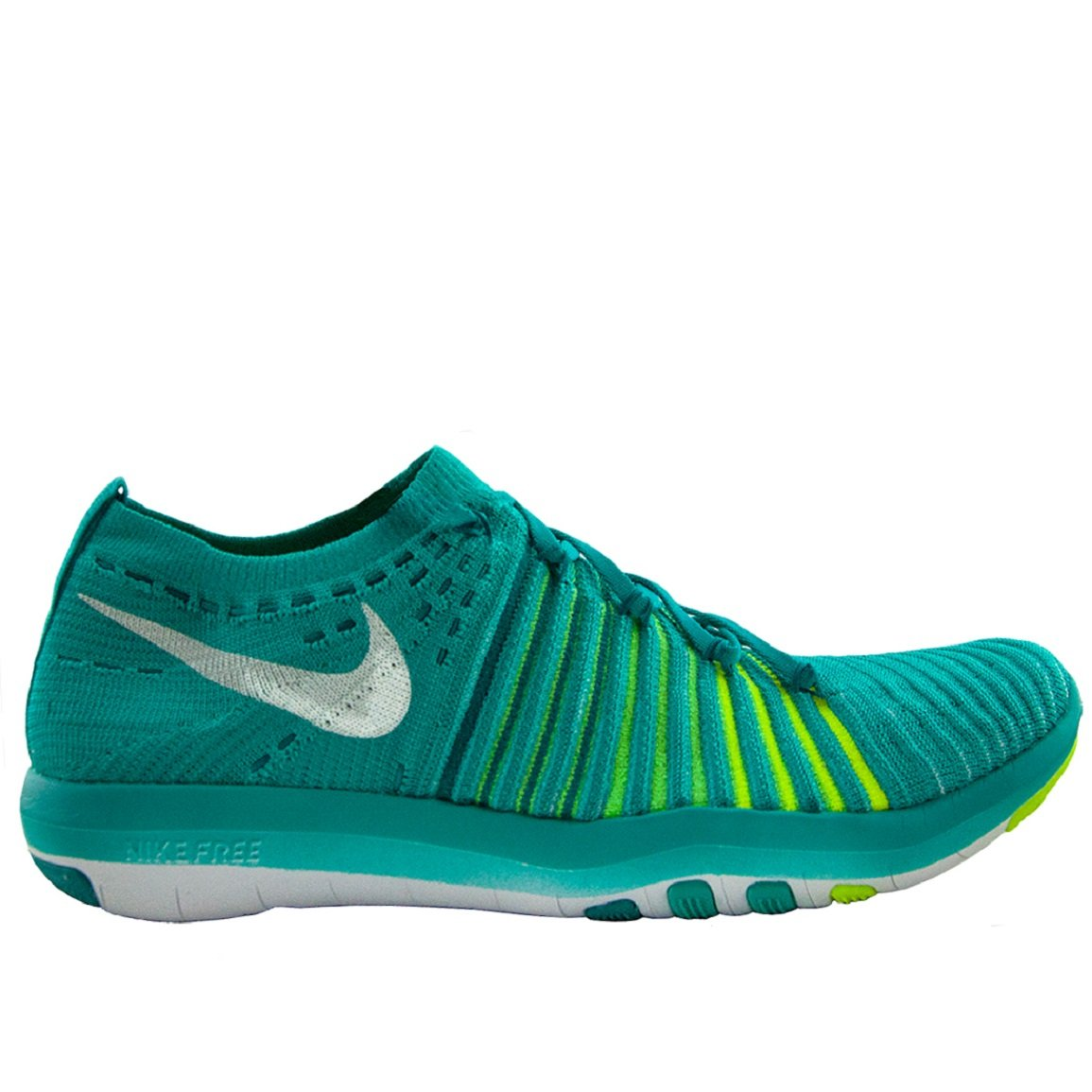 Nike Womens Free Transform Flyknit Shoes Clear Jade/Vlgn 301 Size 10.5
