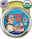 Organic Tattoo Aftercare Balm - 100% Natural, Made in USA, & USDA Certified Tat Salve to Moisturize, Protect, & Heal Skin by Barker's Tattoo Balm