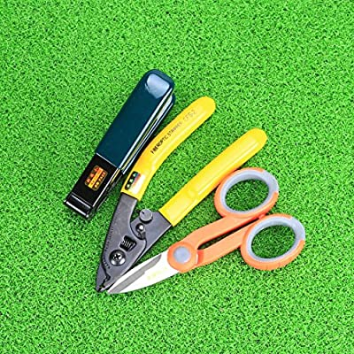 Optic Fiber Cable Cutter Stripper Scissors for Fiber Optic Kevlar Shears with Double Hole Pliers