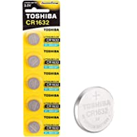 Toshiba CR1632 3V Lithium Coin Cell Battery Pack of 5 batteries