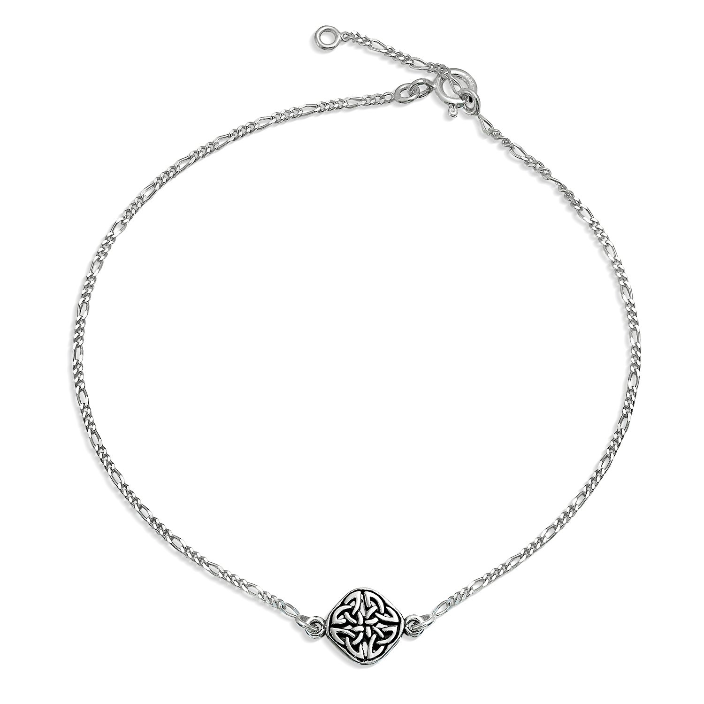 Bling Jewelry 925 Sterling Silver Celtic Knot Triquetra Anklet Bracelet PS-TBG727R