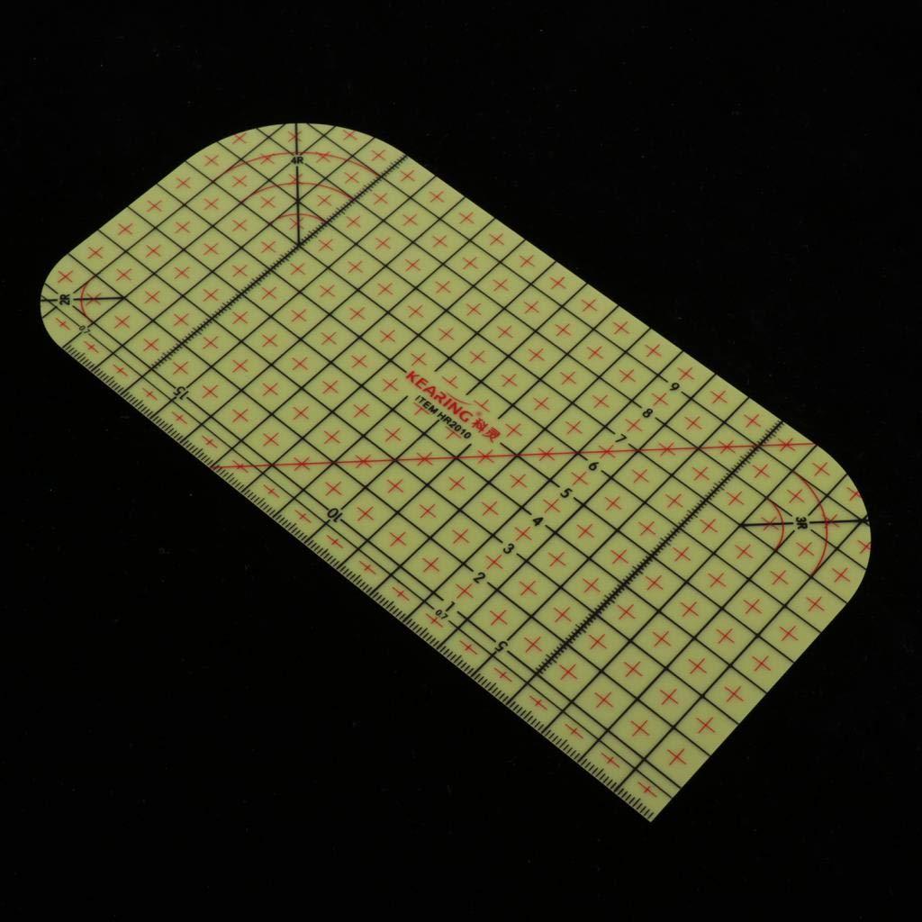 Baoblaze Regla De Planchado En Caliente Patchwork Tailor Craft DIY Herramienta De Medici/ón De Suministros De Costura