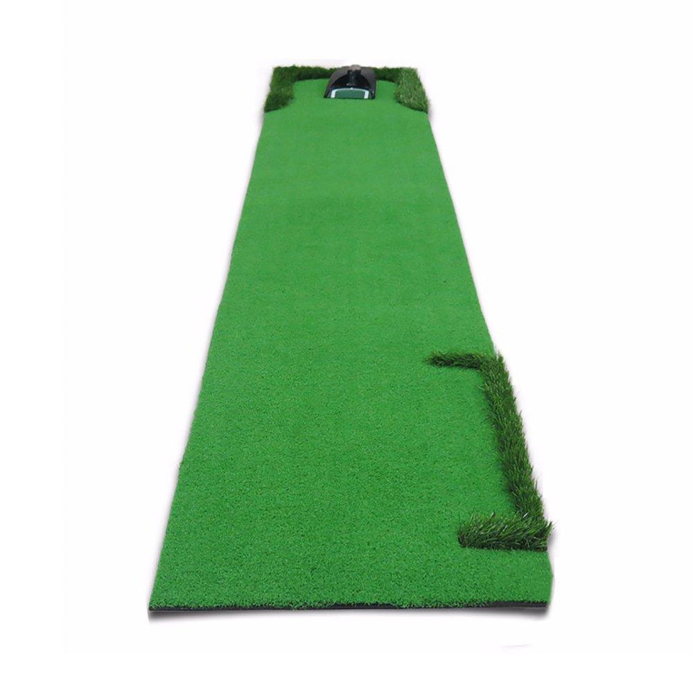 ゴルフパットプラクティスマット室内練習ブランケットチャイルド3m * 0.5m   B07FNY8W9C
