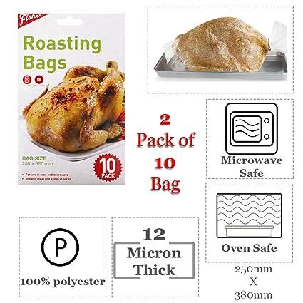 Poliéster Bolsas para asar tamaño del horno & Microondas – Browns Carne & mantenerse en zumos