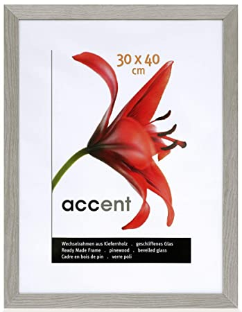 Nielsen Accent Magic Grained Grey 40 x 50 cm Wooden: Amazon.co.uk ...