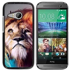 iKiki Tech / Estuche rígido - Pintura Majestic Lion - HTC ONE MINI 2 / M8 MINI