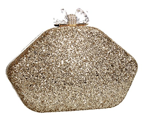 Evening Wedding Celebrity Box Clutch Bag Ladies Night Shiny Prom SWANKYSWANS Party Purse Gold Mariah Out qgxXP