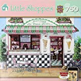 Masterpieces Little Shoppes Goodies Ice Cream Parlor Jigsaw Puzzle (750-Piece), Art by Janet Kruskamp