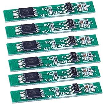 icstation 3,7 V 2,5 A 1S Batería de litio Junta de Protección PCB ...