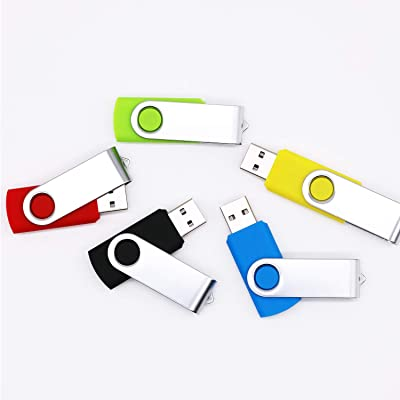Swivel Pendrive Value Zip Drive for Embroidery Machine by FEBNISCTE Small Capacity 256MB 10 Pack Bulk USB 2.0 Flash Drives Swivel Mixed Colors Thumb Drives Memory Stick with Indicator Jump Drive