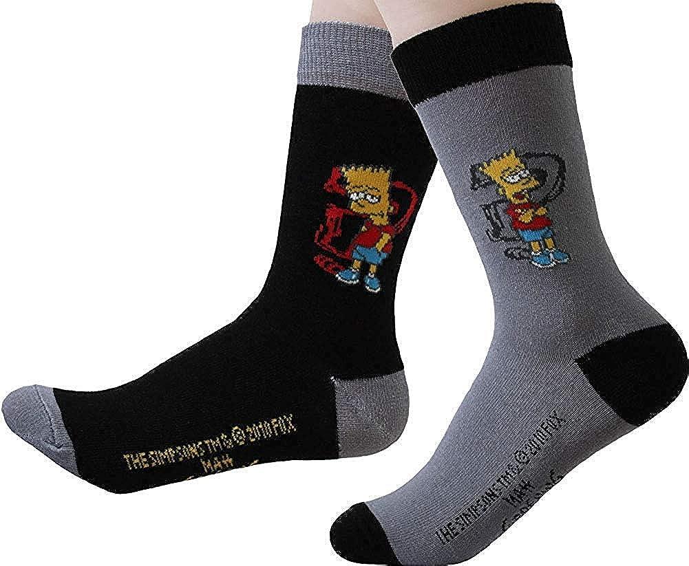 United Labels Childrens Socks Bart Simpson 2s Pack