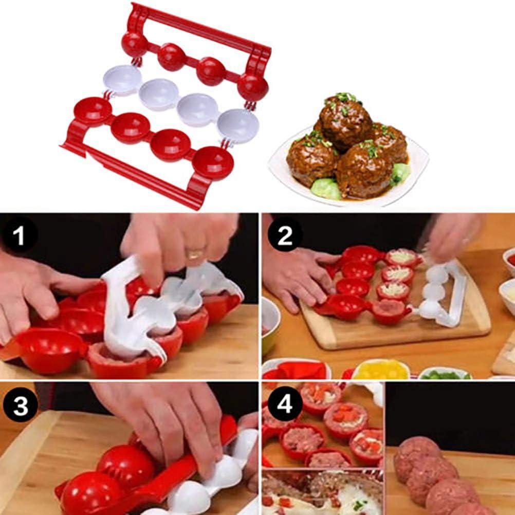 ustensiles de Cuisine de Cuisine de Moule de Bricolage Fait Maison cr/éateur de boulettes de Viande cr/éatives Rapoyo Cr/éateur de boulettes de Viande de boulettes de Poisson