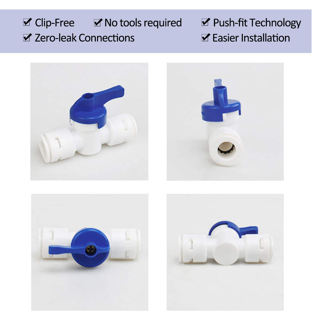 Sourcingmap Quick Connect Juego de 5 piezas de repuesto de manguera de agua para purificadores de agua
